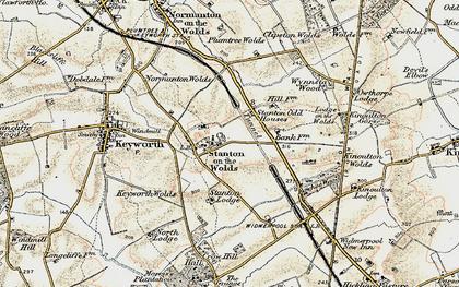 Old map of Wynnstay Wood in 1902-1903