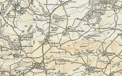 Old map of Winsbury Hill in 1899