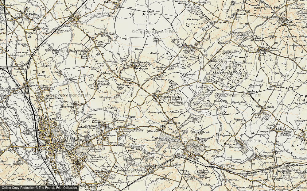 Old Map of Historic Map covering Ashen Copse in 1898-1899
