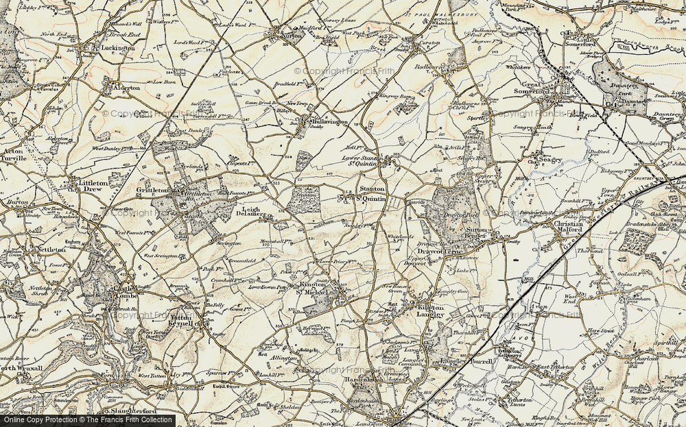 Old Map of Stanton St Quintin, 1898-1899 in 1898-1899