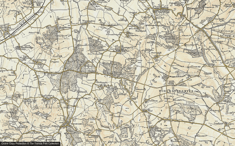 Old Map of Historic Map covering Lidcombe Wood in 1899-1900