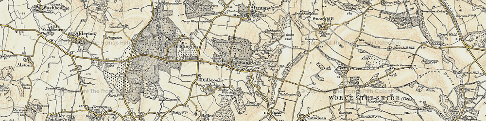 Old map of Lidcombe Wood in 1899-1900