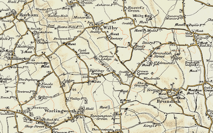 Old map of Wilby Green in 1901