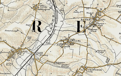 Old map of Stanwick in 1901
