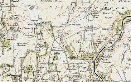 Old map of Leaf Howe Hill in 1903-1904