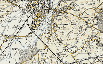 Old map of Stapenhill in 1902