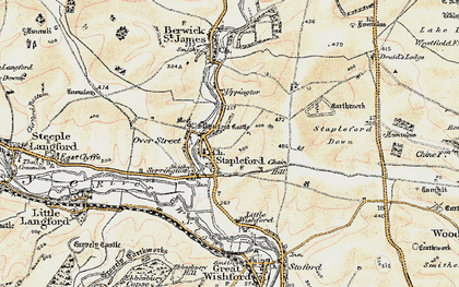 Old map of Stapleford in 1897-1899