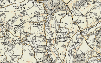 Old map of Stapleford in 1898-1899