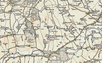 Old map of Stapleford Tawney in 1898