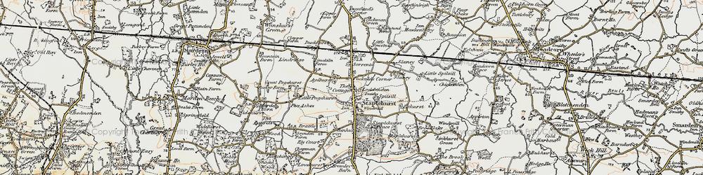 Old map of Staplehurst in 1897-1898