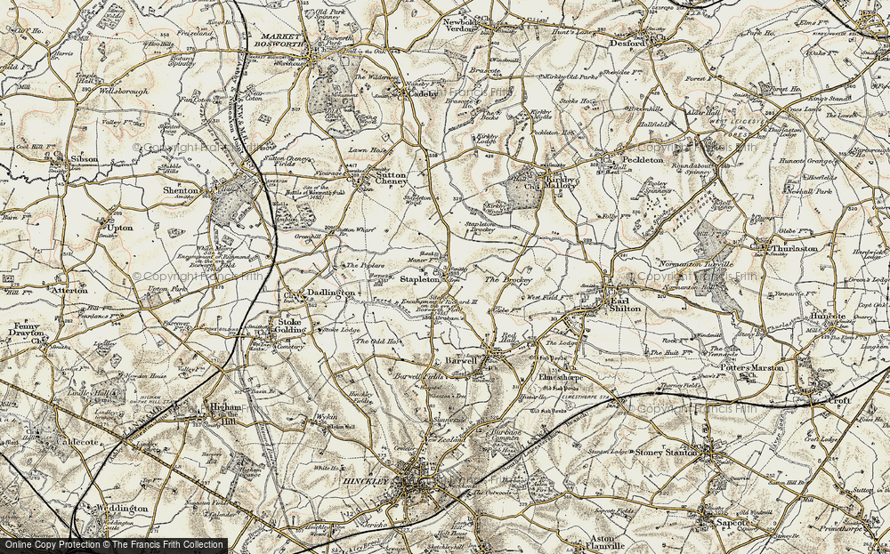 Old Map of Historic Map covering Abraham's Br in 1901-1903