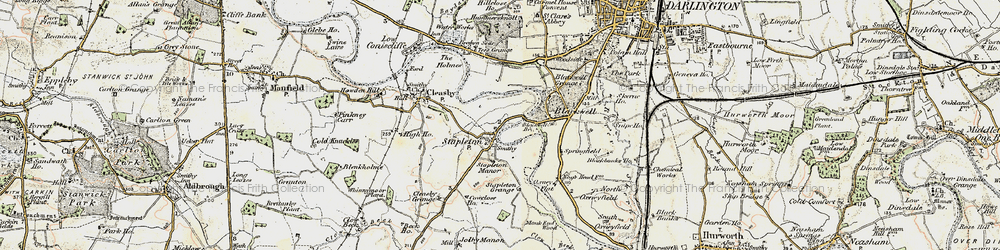 Old map of Stapleton in 1903-1904