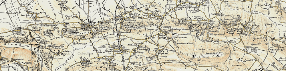 Old map of Wimblestone in 1899-1900