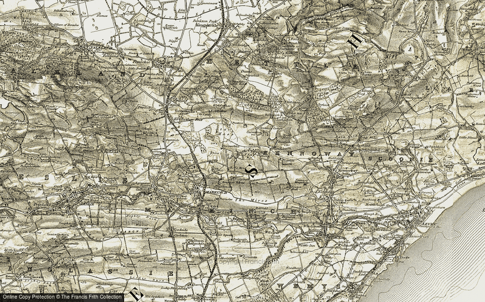 Old Map of Historic Map covering Ballenkirk in 1903-1908