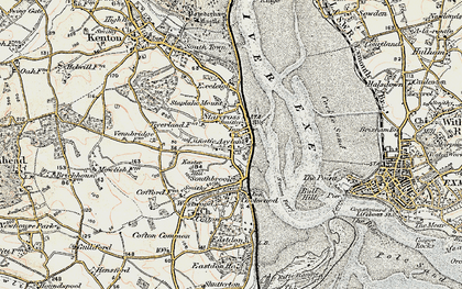 Old map of Starcross in 1899