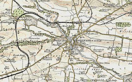 Old map of Startforth in 1903-1904