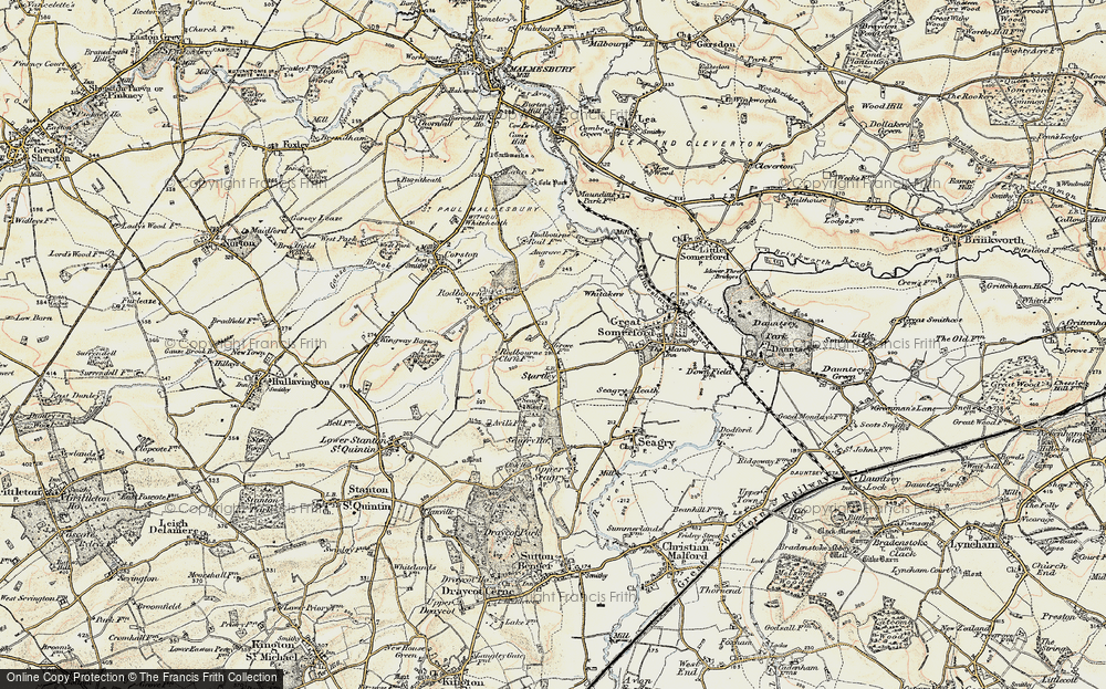 Old Map of Startley, 1898-1899 in 1898-1899