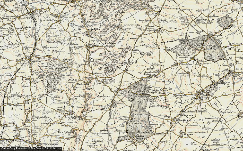 Old Map of Historic Map covering Bangel Wood in 1898-1899