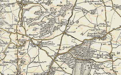 Old map of Bangel Wood in 1898-1899