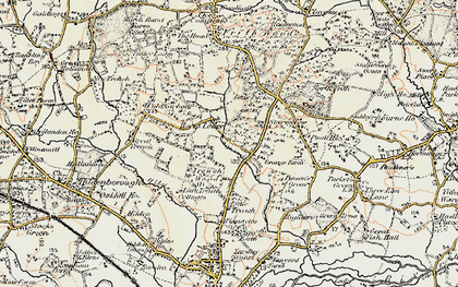 Old map of Yews, The in 1897-1898