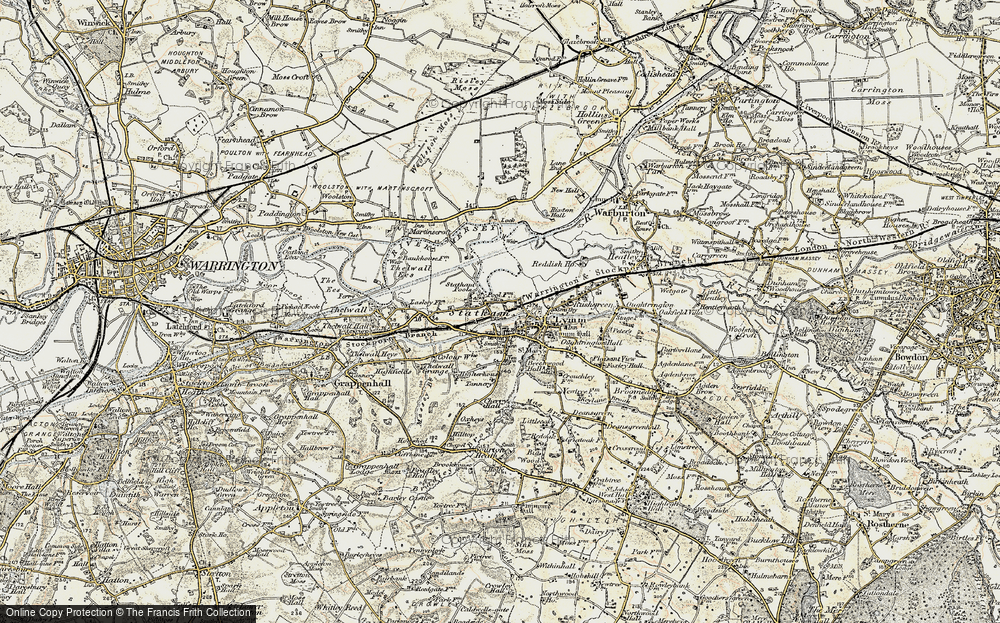 Old Map of Statham, 1903 in 1903
