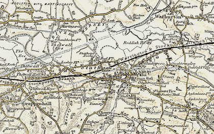 Old map of Statham in 1903