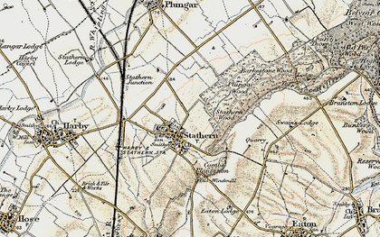 Old map of Barkestone Wood in 1902-1903