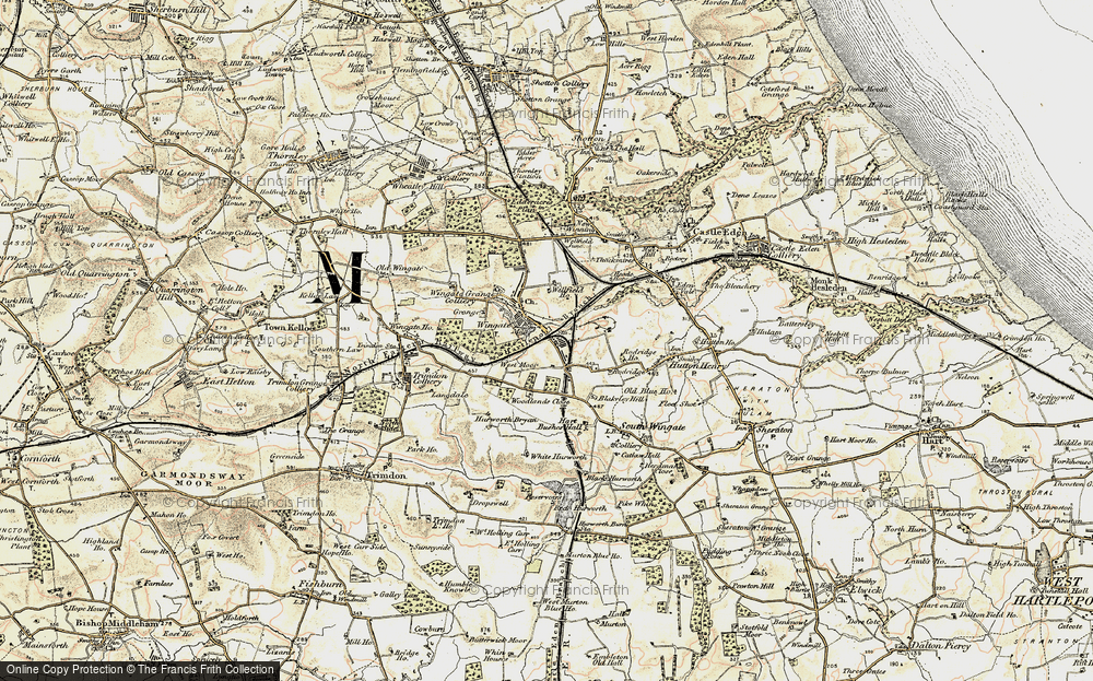 Old Map of Historic Map covering Woodlands Close in 1901-1904