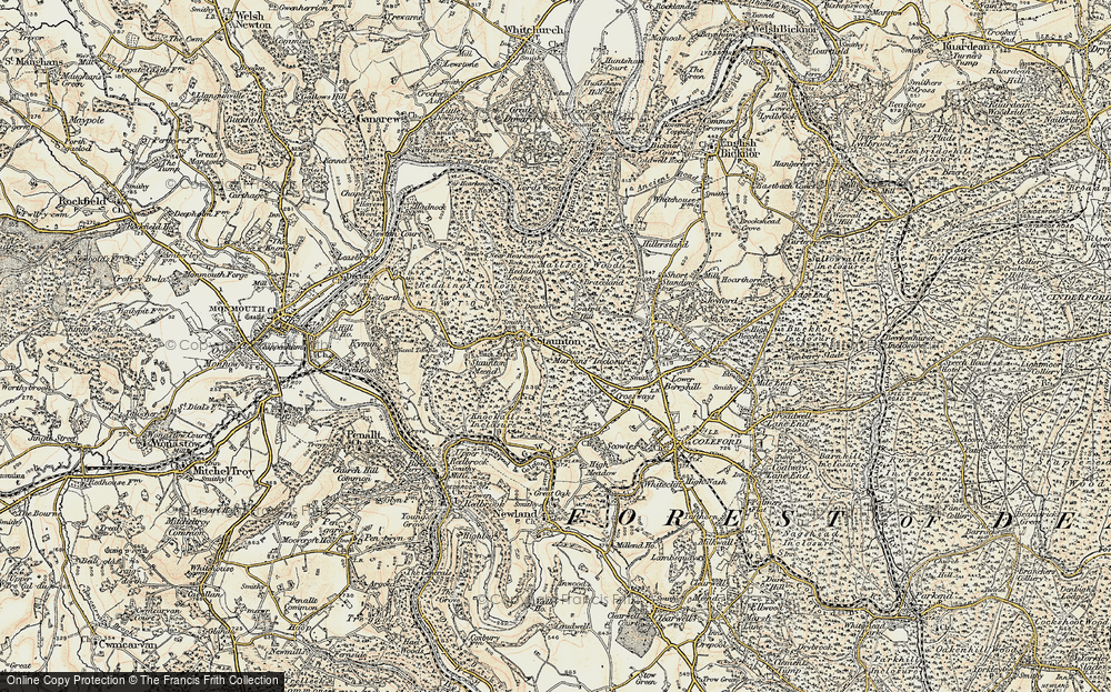 Old Map of Staunton, 1899-1900 in 1899-1900