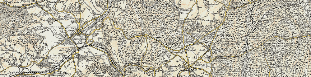 Old map of Staunton in 1899-1900