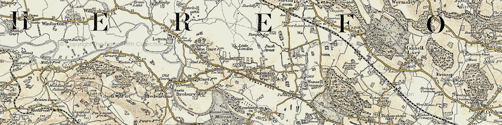 Old map of Tin Hill in 1900-1901