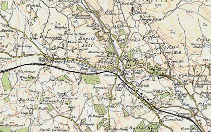 Old map of Staveley in 1903-1904