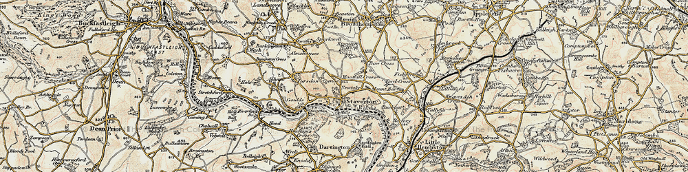 Old map of Abham in 1899