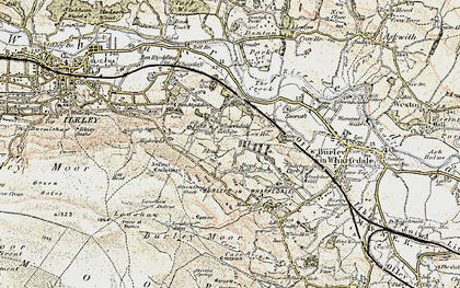 Old map of Ashlar Chair in 1903-1904