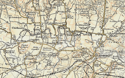 Old map of Stedham in 1897-1900