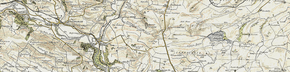 Old map of Tone Hall in 1901-1903