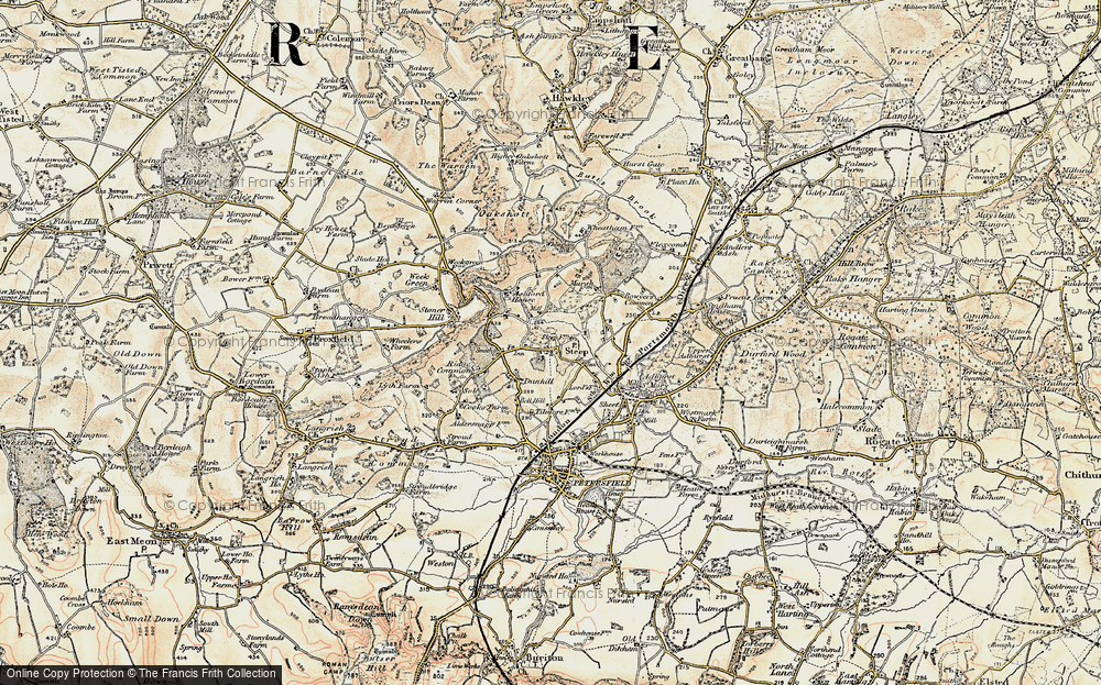 Old Map of Historic Map covering Ashford Chace in 1897-1900