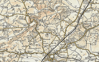 Old map of Ashford Chace in 1897-1900
