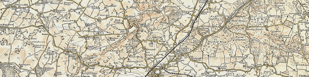 Old map of Steep in 1897-1900
