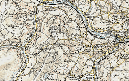 Old map of Aaron Hill in 1903