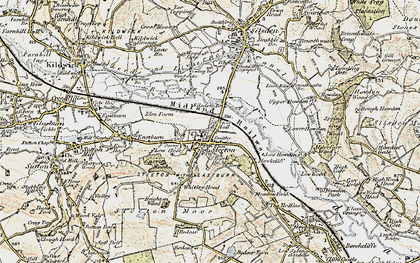 Old map of Steeton in 1903-1904