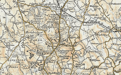 Old map of Stenalees in 1900