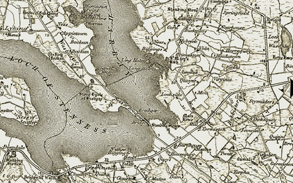 Old map of Ling Holm in 1912