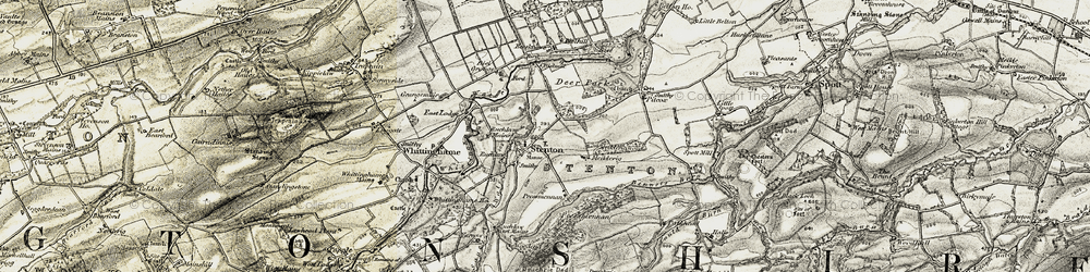 Old map of Yarrow in 1901-1906