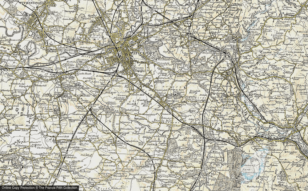 Stepping Hill Map Map of Stepping Hill, 1903   Francis Frith