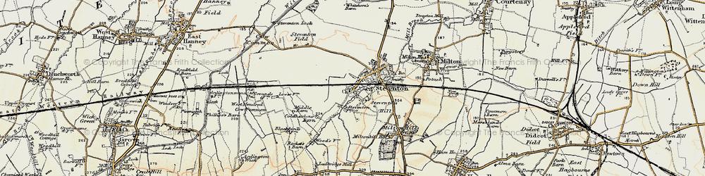 Old map of Steventon in 1897-1899