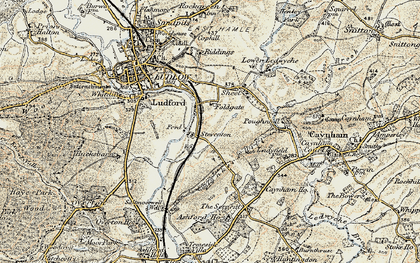 Old map of Tinkers Hill in 1901-1902