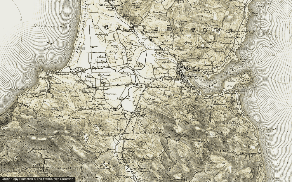 Old Map of Historic Map covering Tomaig in 1905