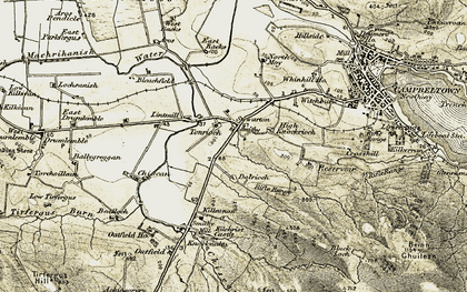 Old map of Tomaig in 1905