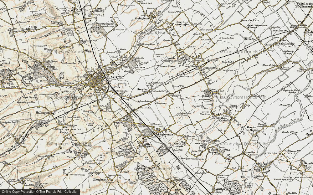 Old Map of Stewton, 1903 in 1903